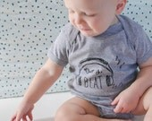 Baby Onesie - Drop the Beat, Natural - Ready to Ship