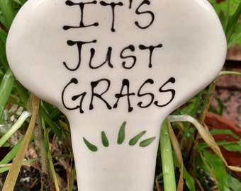 It's just grass garden stake.