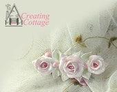 Sweet Petite Miniature Rose Cabochon - Furniture Applique - Pin