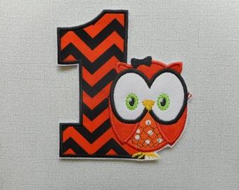 Free Shipping Halloween Owl Machine Embroidery iron on applique