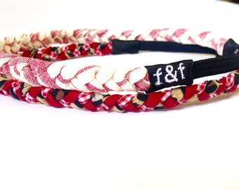 Fashion Headband, Faith and Fit Set of 2 Scrappy Bands In Boomer Sooner