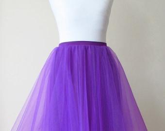 Purple tulle skirt Purple tutu Tulle circle skirt Purple net skirt 50s skirt Purple prom skirt Purple circle skirt