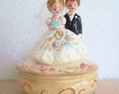 Vintage 60s-70s Josef Original Wedding March Music Box Figurine