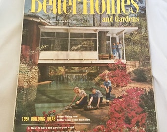 Vintage 1957 Better Homes and Gardens magazine