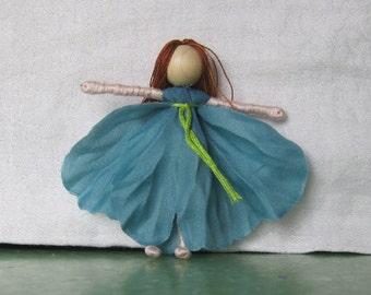 Flower Fairy Doll - Poppy Flower Art Doll