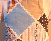 Child's Apron--Vintage Brown Patchwork