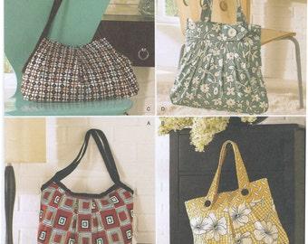 Lined Fabric Bags & Purses Sewing Pattern Simplicity 2685, Uncut, Shopping Tote Bag, Handbag