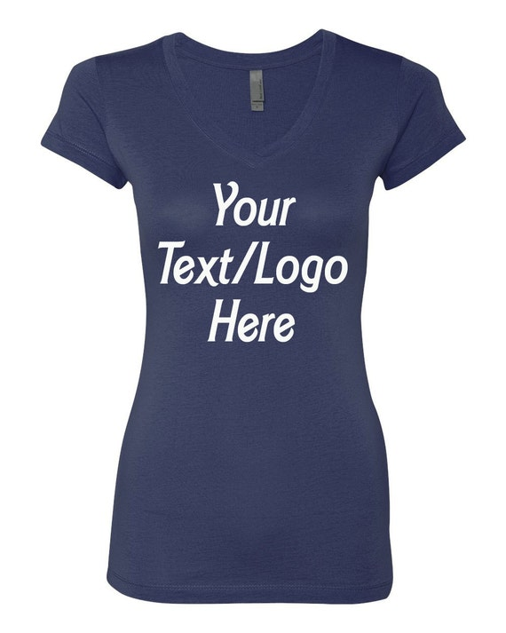 Personalized T Shirt Next Level Ladies 39 Sporty V Neck