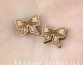 4pcs (SWC148) DIY Laser Cut Wooden Butterfly Knot Charms