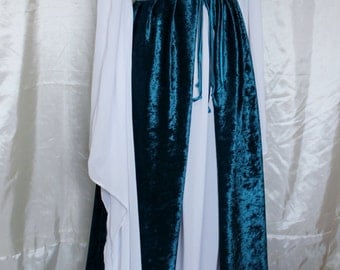 """Bust 36"""" Teal Italian Dress Renaissance Medieval Maiden Game of Thrones Tudor Gown"""