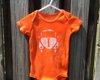 Car Baby Bodysuit, Baby Car Bodysuit, Orange Baby Bodysuit, Baby Boy Car, Baby Girl Car, Gender Neutral Baby Gift, Baby Shower (12 months)