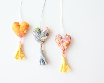 Floral Heart Necklace with Tassel - Liberty of London Fashion for Girls - Girls Accessories - Jewelry for Girls