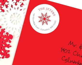 Christmas Address Labels - Snowflake - Sheet of 24