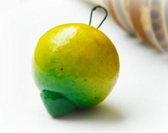 Ceramic Fruit Charm - Lime / Vintage Guatemala