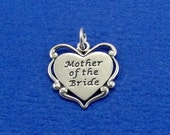 Mother of the Bride Charm - Sterling Silver Mother of the Bride Charm for Necklace or Bracelet