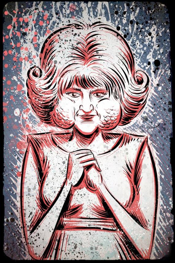 Eraserhead Lady in the Radiator Art Print David Lynch Eraser Head Twin Peaks Experimental Avant Garde Joe Badon Film Movie Poster Drawing