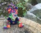 Polymer Clay Dragon 'AUTUMN' - Limited Edition Collectible from the Seasons Series