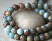 8mm African Opal Round Gemstone Mala Beads - Jewelry Making Supplies - 8mm Round Gemstone (108 beads or 8 or16 Inch Strand) Choose Amount