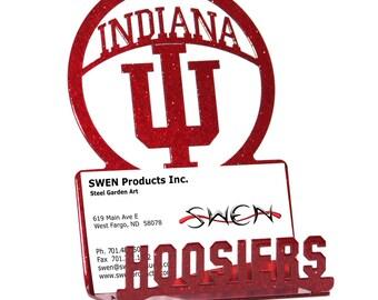 Indiana Hoosiers Metal Business Card Holder
