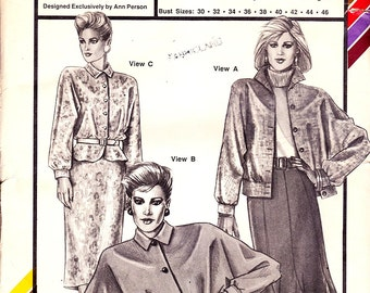 Stretch and Sew 1092 blouson and peplum jackets,