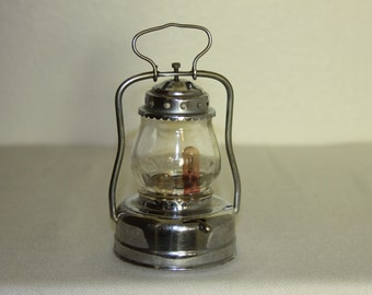 Small Halloween Lantern vintage Glass Shade Metal body 2 bulbs AAA Trademarked 1960s Old Trick or Treat Lighting Camping Lantern for Kids