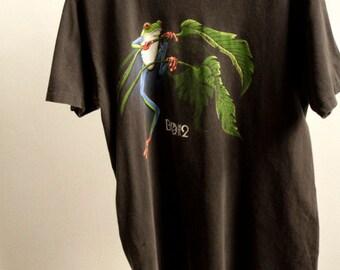 vintage BIOSPHERE 2 tucson arizona BIODOME pauly shore frog BLACK t-shirt top