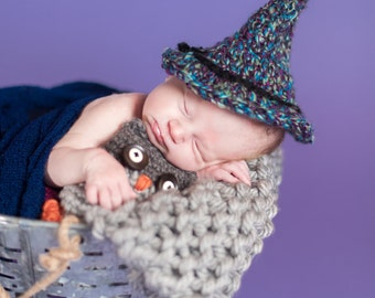 Wizard/Witch and Owl Lovey Prop Lovie amigurumi