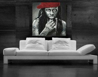 Lil Wayne Painting Pop Art CANVAS Print