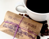 Rustic Winter Wedding Favors. Freshly roasted coffee favors with custom stamp. Made to order. Set of 50.