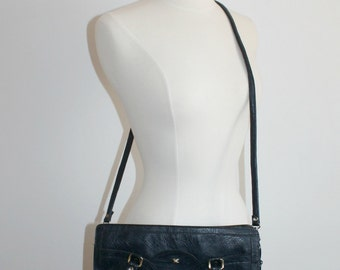 Navy Portfolio-Style Bag with Shoulder Strap