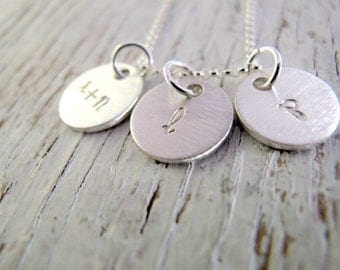 Hand Stamped Mother's Necklace, Kids Name Necklace, 1 name, 2 names, 3 names, DOUBLE SIDED, Mother's Gift