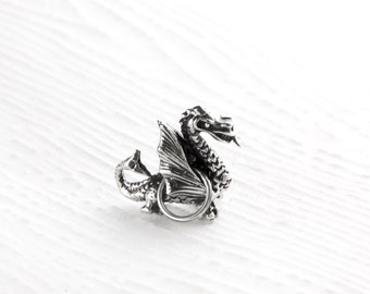 Dragon Sterling Silver Charm Pendant