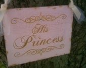 Prince & Princess Wedding Signs, Blush Pink and Gold, Tiara Crystals, Reception Decoration, Disney, Fairytale Wedding