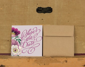 Purple Botanical Save the Date,Rustic Boho Save the Date,Rustic Floral Save the Dates,Bright Floral Save the Date, Bright Boho Floral Save