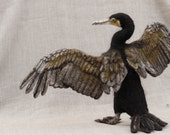 Needle Felted Great Cormorant