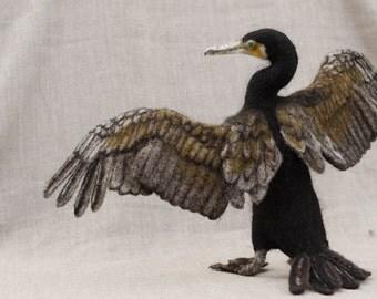 Needle Felted Great Cormorant