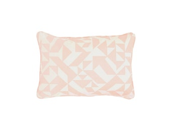 Parallels Rectangle Pillow - 24 x 16 in. - Geometric Modern Organic Cotton
