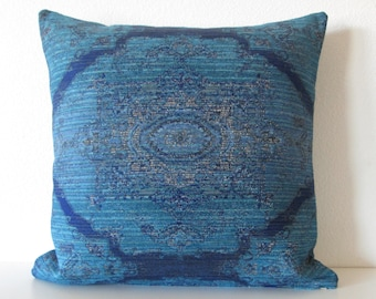 Bohemian pillow cover - Cobalt blue  - Persian medallion - Decorative cushion cover