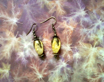 Golden Mustard Stone Earrings (2167)