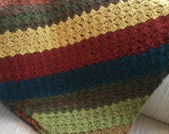The Colors of Fall Crocheted Afaghan