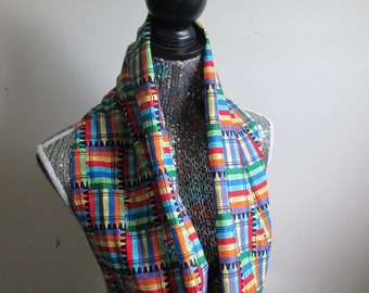 Colorful Crayons Teacher Infinity Scarf