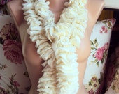 Sale! Ruffle Scarf Crochet Lace Scarf Women Fashion Scarves Gift For Her  Valentine's Day Gift