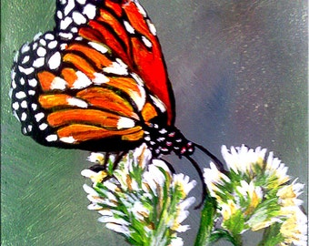 Butterfly. SFA, Acrylic Miniature painting