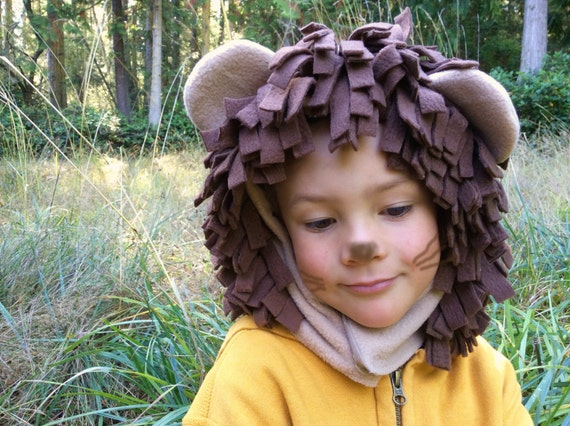 Lion Halloween Costume HOOD and TAIL ONLY, kids costume hood, boys costume, girls costume