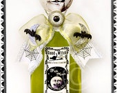 Potion Bottle, Potion, Halloween Potion, Halloween, Green, White, Moon, Celestial, Full Moon, Apothecary