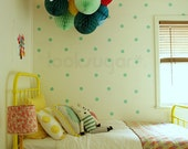 """Polka Dots Decals . 2 """" Polka Dots Wall Decals . Polka Dots Stickers with wallpaper / wall stencil effect - AP0017NF"""