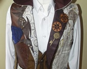 Steampunk mens waistcoat Victorian inspired with hood made to order
