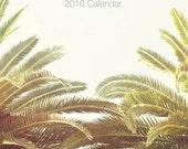 "SALE-2016 Calendar, Palm Tree Calendar, Photography Desk Calendar, California, Palm Tree Decor, Photo Calendar, 5x7, 4x6 ""Palm Trees 2016"""