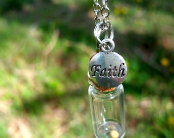 SALE Mustard Seed Necklace Faith Necklace Faith Jewelry Christian Gift Inspirational Jewelry SALE R18 N92
