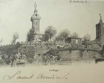 Antique French Postcard - Dugas Chapel, St Ambroix, France